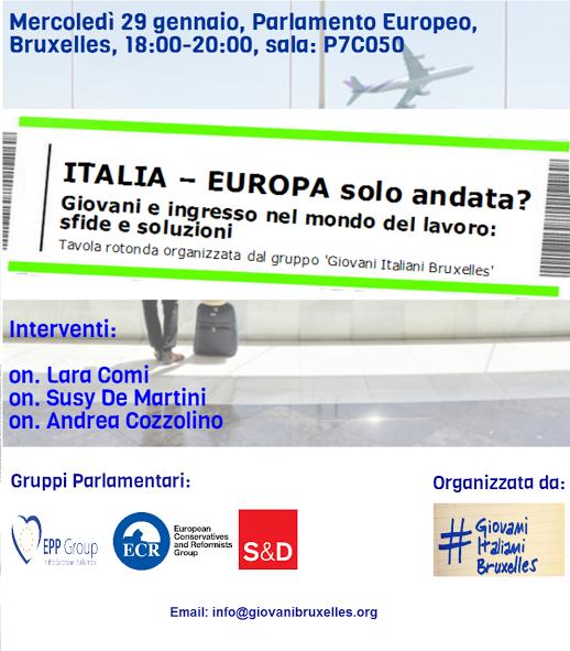 Evento al parlamento europeo italia europa solo andata 29 gennaio giovani italiani - Se sposti un posto a tavola streaming ...